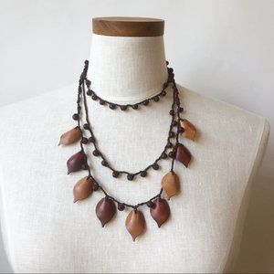 Jewelry - Boho Chic Authentic Mexican Leaf Layered Necklace